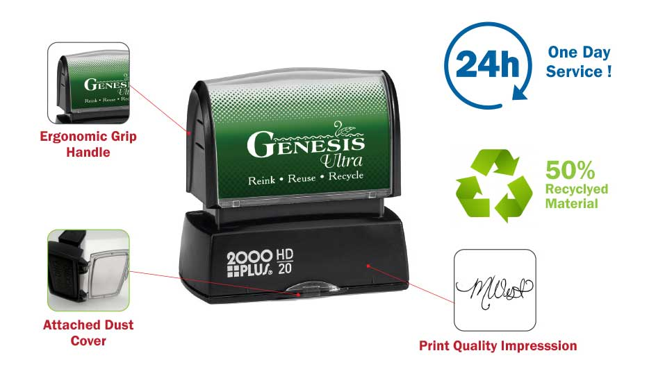 Print Quality Pre Inked Stamps