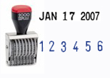 Cosco 2000 plus Series Line Date and Number Stamps