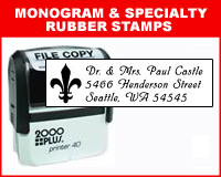 Monogram & Custom Address Stamps