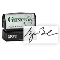 Premium Pre-Inked Signature Rubber stamps at Great Prices from Southwest Rubber Stamp Co. Genesis pre inked rubber stamps. Secure Online ordering. Free Shipping. Fast One Day Service.