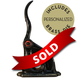 Fully customizable, personalized antique embosser. Upgrade to a different model embosser to better suit your project.