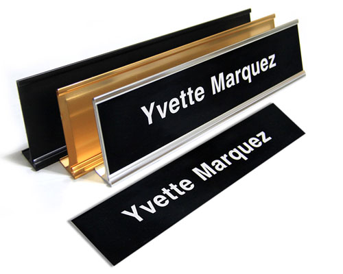 """2X81L - 2"""" X 8"""" Name Plate 1 Line"""