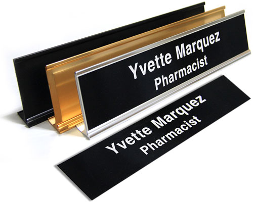 "2X102L - 2"" X 10"" Name Plate 2 Lines"