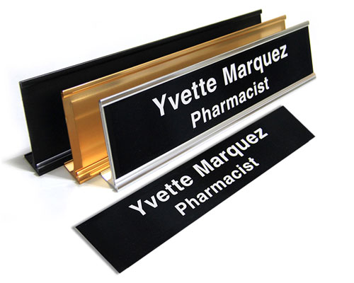 "2X82L - 2"" X 8"" Name Plate 2 Lines"
