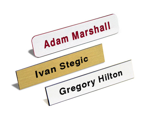 Name Tag - Single Color- Text Only