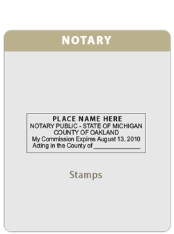 MI-Notary Rectangle