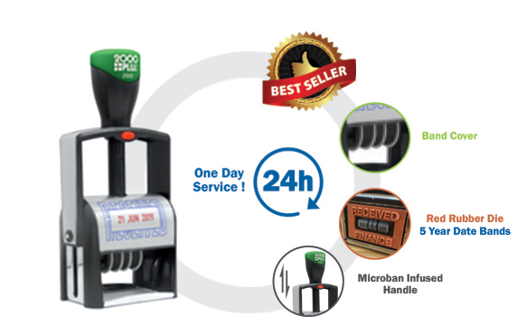 2000 Plus Premium <br> Heavy Duty Self-Inking Daters